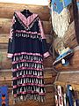 Jingle dress and beaded moccasins at Ninepipes Museum.JPG