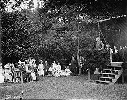 Dedication of Miller Cabin, 1912