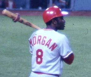 Major League Baseball player Joe Morgan of the...