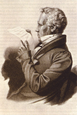 Zollverein - 1803s lithograph of Johann F. Cotta. Cotta played an important role in the development of the south German customs agreement and also negotiated the Prussian Hessian Customs agreements.