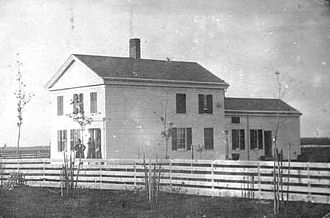 """John W. North - 1850 photograph of """"John W. North home, east side of Minneapolis, at 118 University Avenue Southeast."""""""