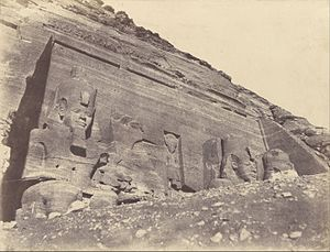 Documentary photography - John Beasly Greene's photo of the Abu Simbel temples, 1854