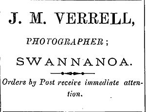 John Verrall (politician) - Advertisement placed by Verrall in the Oxford Observer in 1896; note the spelling of his surname