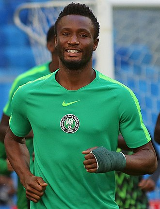 John Obi Mikel - Mikel training with Nigeria at the 2018 FIFA World Cup