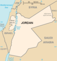 Jordan, 1948-1967. The East Bank is the portion east of the Jordan River, the West Bank is the part west of the river