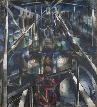 Joseph Stella - Joseph Stella, 1919–20, Brooklyn Bridge, oil on canvas, 215.3 x 194.6 cm, Yale University Art Gallery