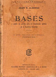 book by Juan Bautista Alberdi