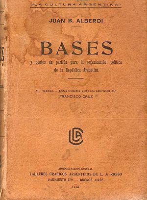 Juan Bautista Alberdi - Image: Juan bautista alberdi bases