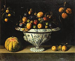 Fruit in a Faience Dish