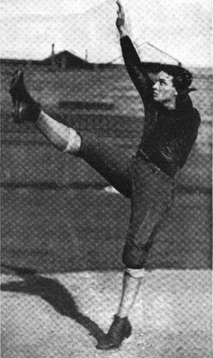 Judy Harlan - Harlan punting c. 1921
