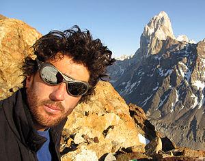 Julián Casanova (ski mountaineer) - Fitz Roy in background