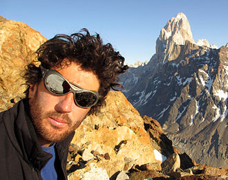 Julián Casanova (ski mountaineer) - Fitz Roy in background