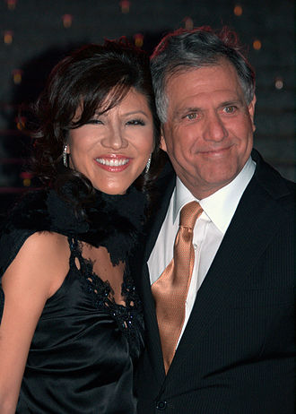 Les Moonves - Moonves with his wife Julie Chen at the 2009 Tribeca Film Festival