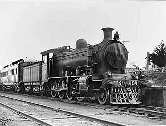 Victorian Railways K class - K109 hauling the inaugural Better Farming Train in Gippsland in October 1924.