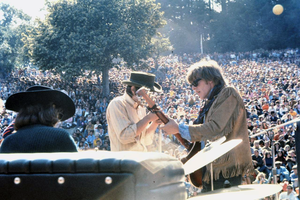 Summer of Love - Spencer Dryden, Marty Balin, and Paul Kantner of Jefferson Airplane performing at the Fantasy Fair, early June 1967