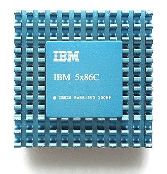Cyrix Cx5x86 - The IBM 5x86 with blue heatsink.