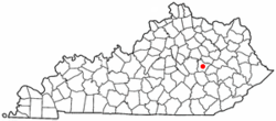 Location of Ravenna, Kentucky