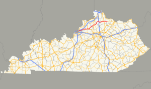 Kentucky Route 22 - Image: KY 22 map