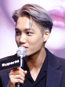 Kai at a Launching Press Conference on October 2, 2019.png