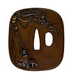 Kano Natsuo - Tsuba with a Hawk Stalking a Monkey - Walters 51100 - Back.jpg