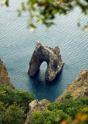 Devil's Gate (Crimea) - View from the Kara Dag