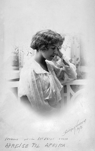 Karen Blixen - Karen Blixen photographed in 1913