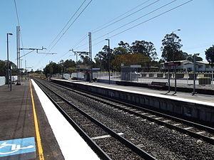 Karrabin railway station - Westbound view from Platform 1 in September 2012