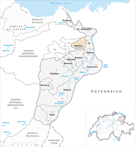 Map of Berneck