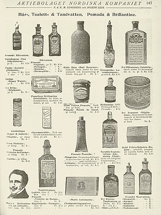 Mouthwash - Swedish ad for toiletries, 1905/1906.