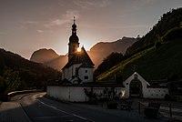 Katholische Ramsauer Pfarrkirche St. Fabian und St. Sebastian.jpg