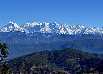 Kausani - View of Himalayan peaks from Kausani.