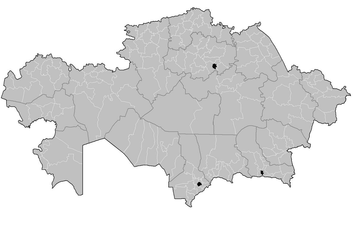 Districts Of Kazakhstan Wikipedia - Kazakhstan map