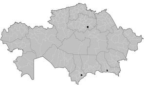 Districts of Kazakhstan - Okresi of Kazakhstan