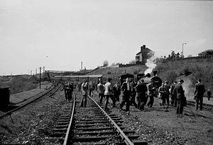 Kelvin Valley Railway - Railtour at Kilsyth in 1958.