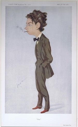 "Kenelm Foss - Caricature of Kenelm Foss by ""Astz"" in Vanity Fair, 1913"