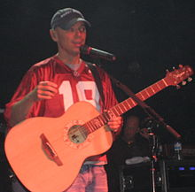 Kenny Chesney performing on March 8, 2008 at the Jupiter Bar & Grill in Tuscaloosa, Alabama.