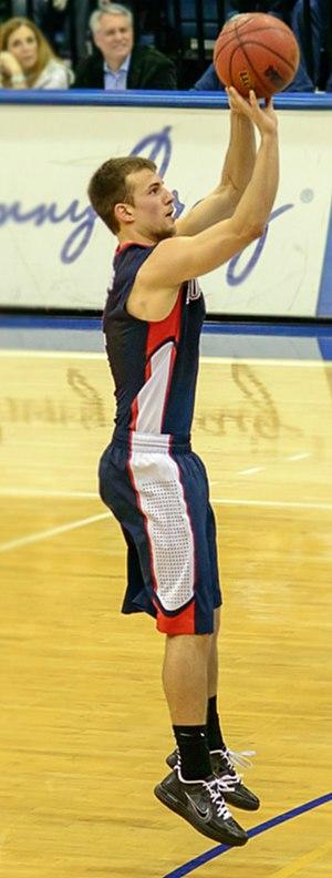 Kevin Pangos - Pangos taking a jump shot for Gonzaga.
