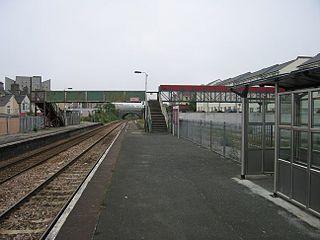 Keyham railway station Station in Devon, England