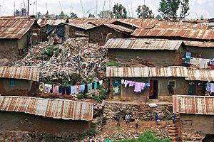 Kibera - Dwellings in Kibera, Nairobi Kenya (ca. 2008)