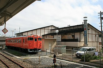 Onagawa Station - The KiHa 40 series DMU car originally parked next to the station, seen here in 2007