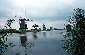 Flood control in the Netherlands - The windmills of Kinderdijk, the Netherlands