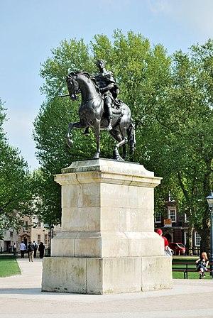 Equestrian statue of William III, Bristol - Image: King William III statue Queen Square, Bristol