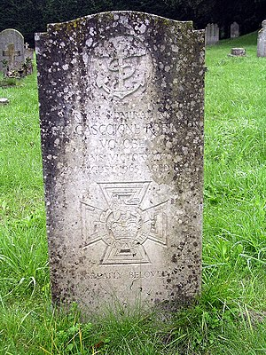 Eric Gascoigne Robinson - Robinson's headstone, bearing a representation of the VC