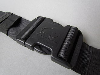 Buckle - Snap-fit buckle on a belt