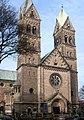 Kościół pw. św. Jacka w Bytomiu - elewacja wschodnia z wieżami.JPG