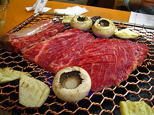 Korean barbecue - Image: Korean barbeque Galbi 02