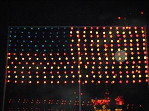 Koziar's Christmas Village - American flag light display
