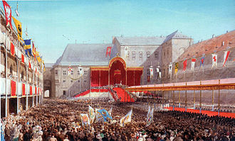 East Prussia - Coronation of William I as King of Prussia at Königsberg Castle in 1861
