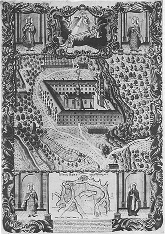 Metropolitanate of Karlovci - Serbian Orthodox Monastery of Krušedol, first seat of the Metropolitanate, from 1708 to 1713: graphics from 1775