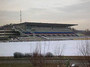 Venues of the 1980 Summer Olympics - The Krylatskoye Canoeing and Rowing Basin venue in March 2008. It hosted the canoeing and rowing competitions for the 1980 Summer Olympics.
